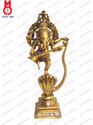 Lord Ganesh Dancing On Cobra W/ Sitar Statue