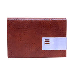 Brown Business Card Holder