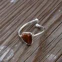 925 Sterling Silver Tiger Eye Adjustable Ring