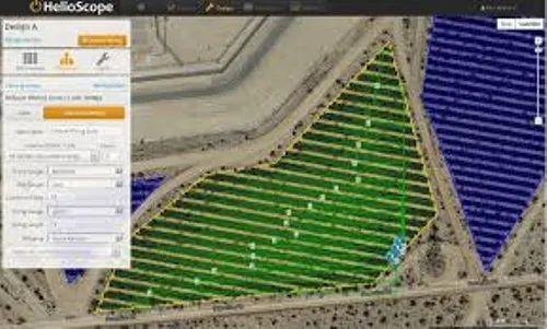 product image  solar power plant layout design through helioscope