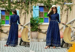 Indo Western Rayon Anarkali Long Gown