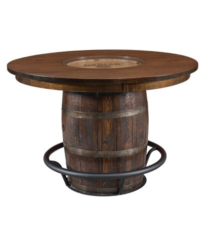 42 Rustic Solid Board Bar Table Rs, Round Wood Bar Table
