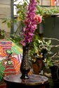 11 Inch Metal Flower Vase, Bottle Shape
