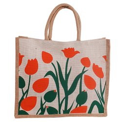 JUte Complimentery Bag EXECUTIVE FLOWER