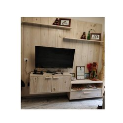 Wall Mounted Wood Solid TV Unit, Warranty: 5 Years, 4