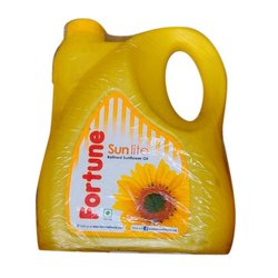 5 Litre Fortune Sunlite Refined Sunflower Oil, Packaging Type: Plastic Can