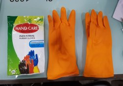 Hand Care Orange Hand Gloves