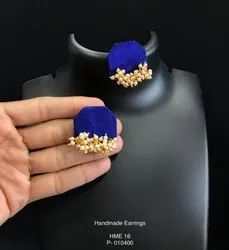 Festive Jewellery - Azure Silk Earrings