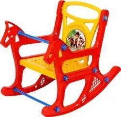 Red Plastic Kids Rocking Chair