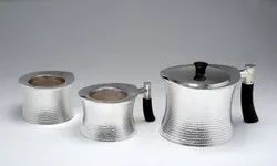 Silver Tea Set in H Hammer Design