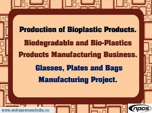 Production of Bioplastic Products., Business Industry Type: Business Consultancy Services