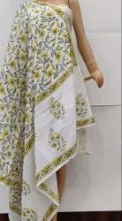 Hand Block Cotton Dupatta