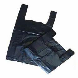 Black Vest Carrier Bag