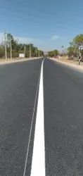 White Thermoplastic Paint Road Marking Service