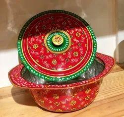 Printed Kaushalam Hand Painted Serving Bowls