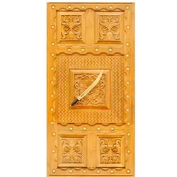 Matt Finis Teak Wood Pooja Door, For Home