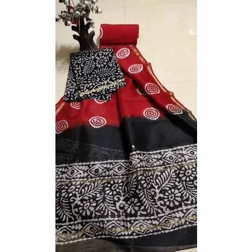 6.3 m (with blouse piece) Casual Ladies Handloom Silk Saree