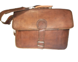 Single Buckle Closure Leather Bag