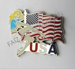 1024 USA Flag Badge