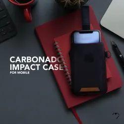 Reverse Fabric Black Carbonado Mobile Impact Cases, Size: Standard 6.5 Inches