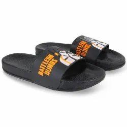 Men Black Slider Slipper Flip-Flops