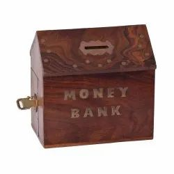Wooden Hut Coin Box
