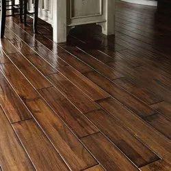 Dark Brown Matte Finish Wooden Flooring, Thickness: 8mm
