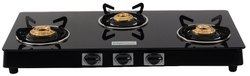 brightflame 3 Burner Glass Top Gas Stove, Size(mm): 750, Model No.: 3BB