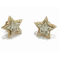 Piecut Diamond Earring