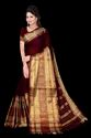 Zari Cotton Silk mercerised Saree for Partyware, Above 14 Yeats