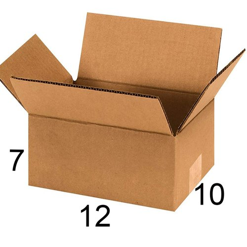 Rectangle 12 x 10 x 7 inch Corrugated Box