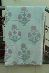 Mugal Flower Printed Dohar Blanket