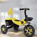 2-6 Years Plastic Kids Yellow Tricycle