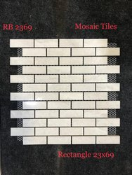 Wall Cladding Rectangel MOsaic Tiles, Size: 23*69