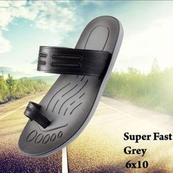 Super Fast Grey PVC Flat Slipper