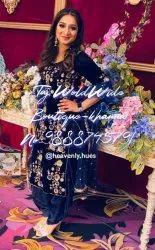 Blue Unstitched Ladies Designer Suit