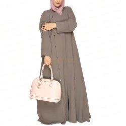 Umber Brown Dual Dafts Abaya