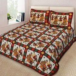 Rajasthani Art Printed Cotton Bedsheet