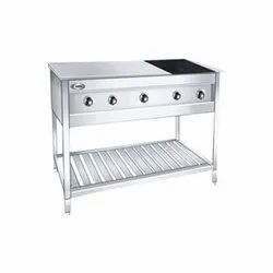 RBJ Stainless Steel SS Chapati Plate  Puffer