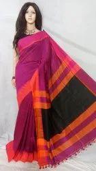 Sanghamitra Sarees Formal Wear Border design handloom saree, 6.5 m, hand weaved