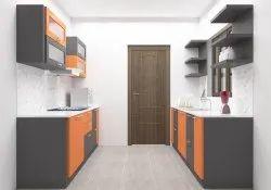 Residential Plywood Parallel Modular Kitchen, Warranty: 1 Year