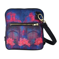 Cool Blue Rajasthani Crossbody Bag