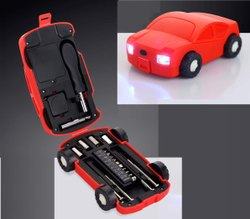 Wheel Cover RED Car Shape Toolkit With Free Wheels