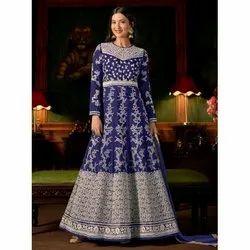 Blue Designer Long Dress