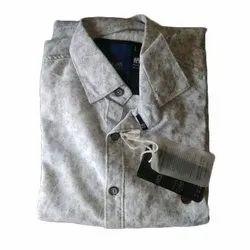 Mens Casual Cotton Printed Shirt