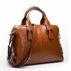Plain Leather Office Bag
