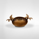 Brown Mantra Brass Bowl With Bird