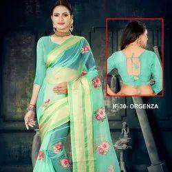 Designer Organza Silk Saree