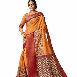 Soft Linen Saree With Zari Boder