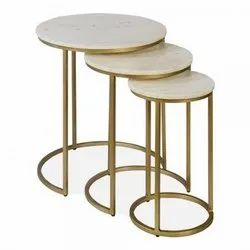 Nesting Tables With Marble Top